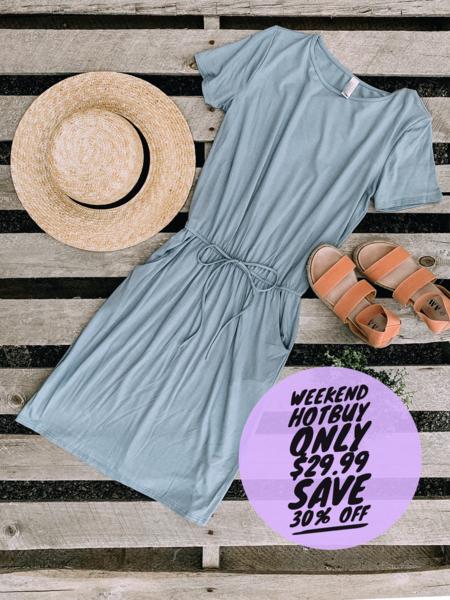 Breezy Blue Midi Dress