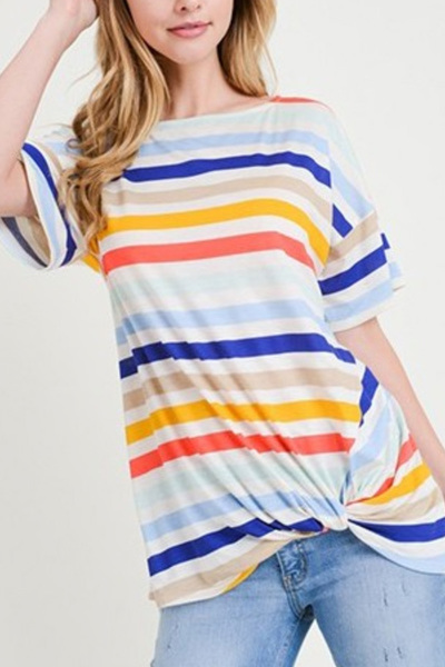 Jubilee Stripe Twist Top