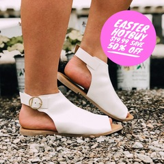 White Madden Inspired Flats