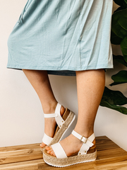 Pearly Platform Sandals