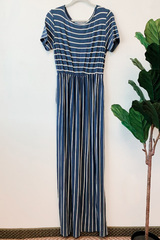Sable Navy Stripe Maxi Dress