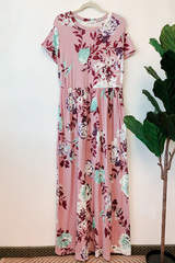 Tansy Pink Floral Maxi Dress