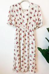 Rita Floral & Polka Midi Dress