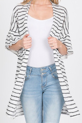 Kimmie Black Stripe Cardigan