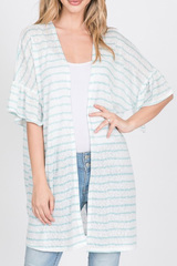 Kimmie Mint Stripe Cardigan