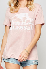 Pink Blessed Tee