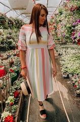 Taylee Multi Stripe Ruffle Dress