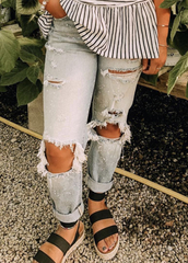 Trendy Recked Denim
