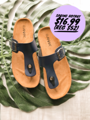 Navy Wedge Slides