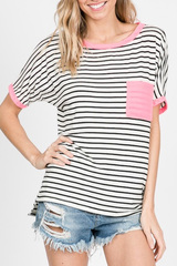 Pink Pop Stripe Top