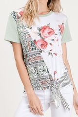 Sage Tingley Floral Tie Top