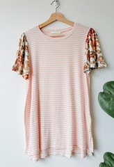 Blush Flyaway Sleeves Top