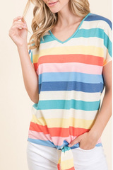 Over the Rainbow Tie Top