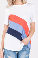 Triple Threat Stripe Tee