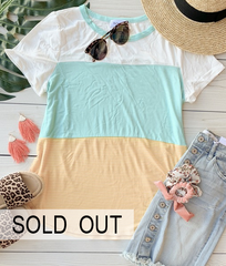 Mint Colorblock Tee