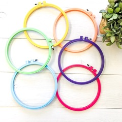 Plastic Embrodiery Hoops blue