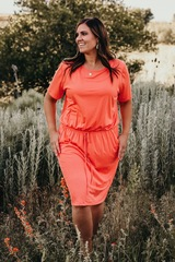 Summa Coral Dress - FB