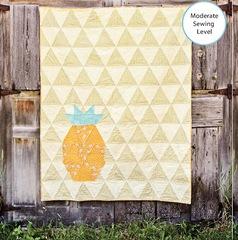 Golden Pineapple Quilt kit
