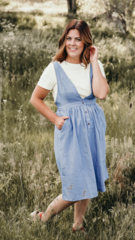 Denim Overall Dress-MH