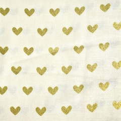 Gold Heart- Fabric
