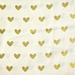 Gold Heart- Fabric