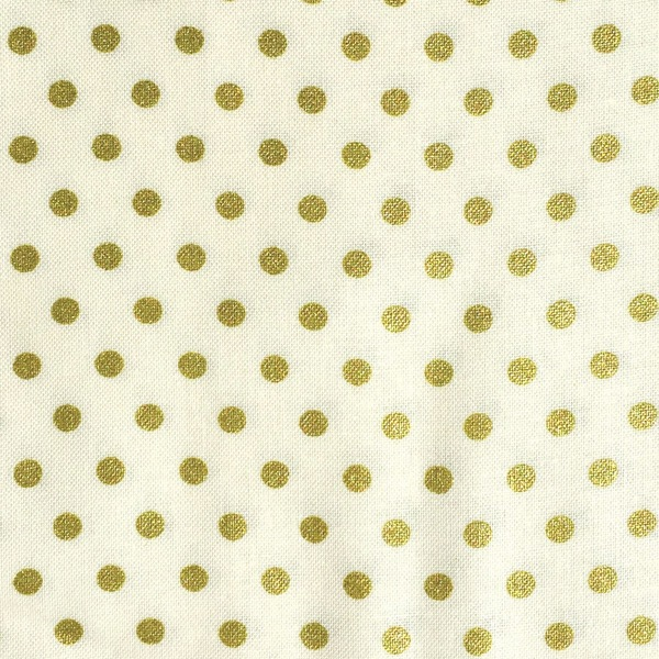 Gold Dots- Fabric