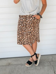 Cheetah Drawstring Skirt - MH
