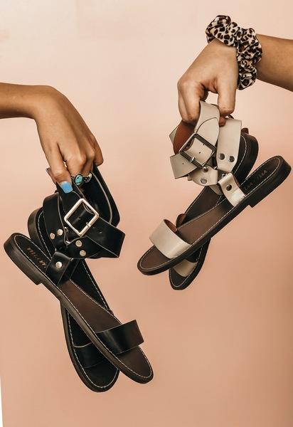 Black Capri Sandals -MH