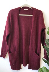 Berry Slouch Cardi
