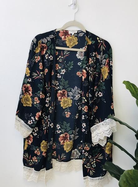 Navy Silo Kimono