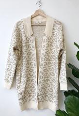 Beige Cheetah Cardi