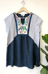 Navy Bailey Boho Top
