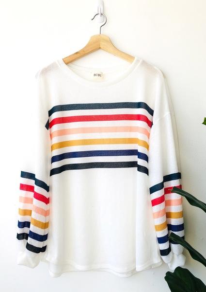Teri Stripe Pullover