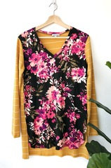 Sally Mustard Floral Top