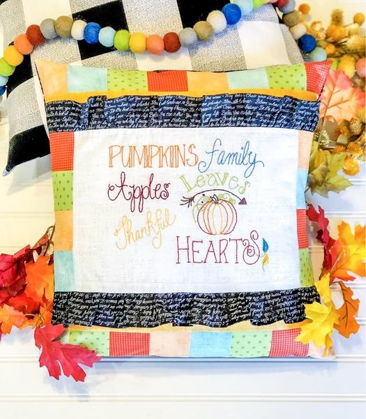 Autumn Words Pillow Kit