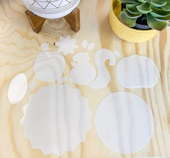 Mylar Templates for Pumpkin and Squirrel felt ornaments