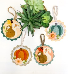 COMPLETE felt Pumpkin and Squirrel Kit