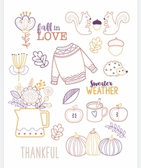 Sweater Weather embroidery Pattern