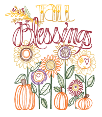 Fall Blessings embroidery PATTERN
