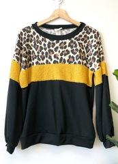 Mustard Cheetah Block Pullover