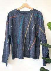 Navy Stitch Pullover