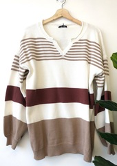 Rust Stripe Pullover