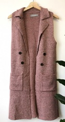 Mauve Button Vest