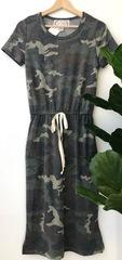 Camo Drawstring Dress