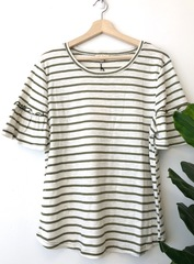 Gemma Olive Stripe Top