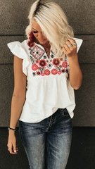 Lola Embroider Boho Blouse