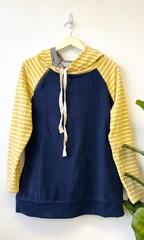 Yellow Dbl Stripe Hoodie