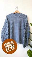Blue Soho Knit Sweater
