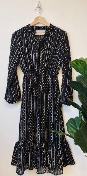 Whimsy Polka Midi Dress