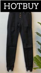 Black Button Down Jeans